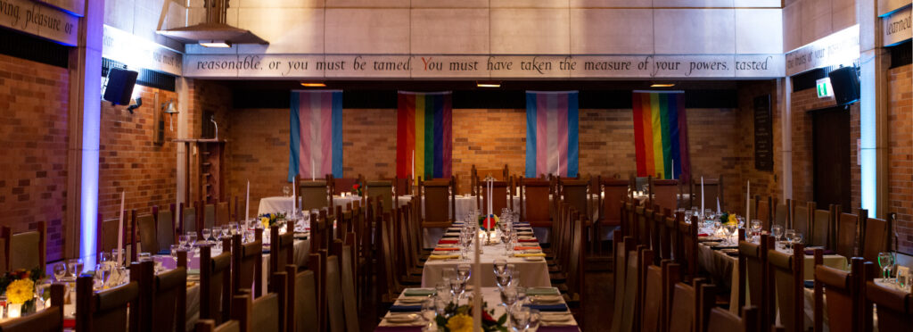 Tables set for Pride High Table event