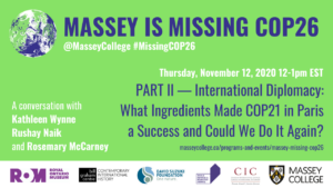 Massey is Missing COP26 part II banner