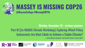 Massey is Missing COP26 part III banner