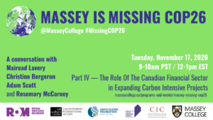 Massey is Missing COP26 part IV banner