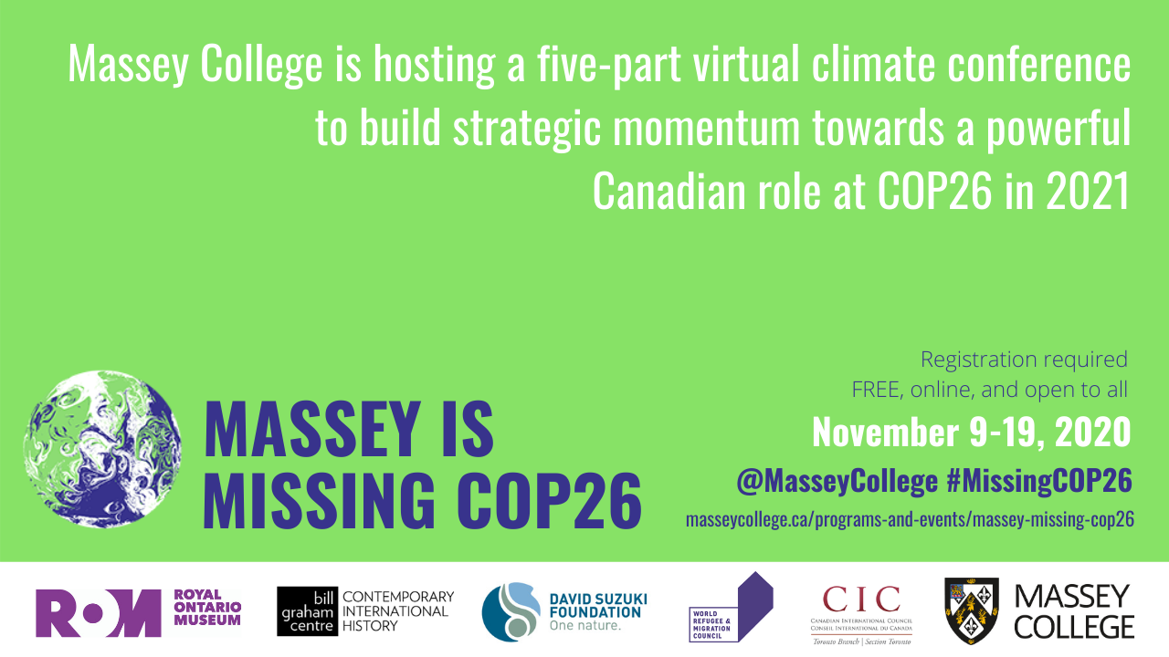 Join us for our virtual conference on climate change – Massey is #MissingCOP26