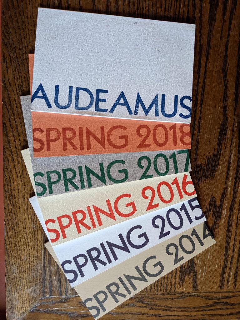 Massey College Audeamus note cards