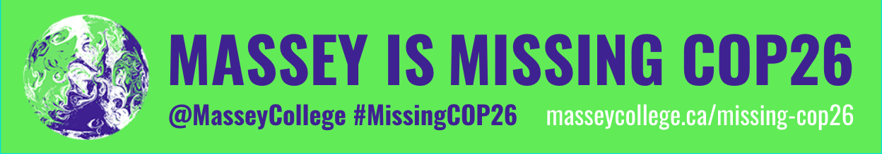 Join us for Massey is Missing COP26 throughout 2021