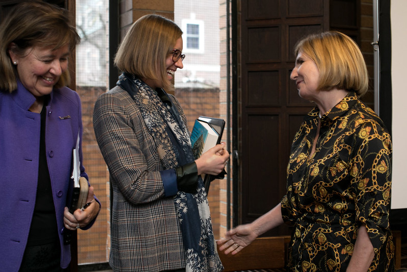 Rosemary McCarney, Hon. Karina Gould and Nathalie Des Rosiers