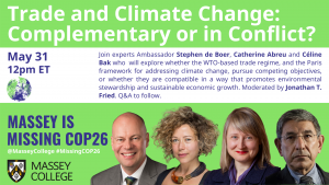 Flyer for May 31 COP26 Trade and Climate Change