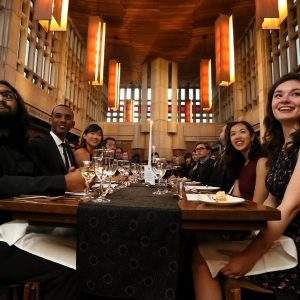 Photo of junior fellows at high table dinner