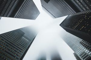 stock Image of high rise buildings