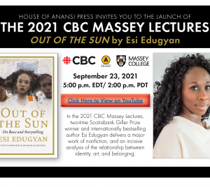 CBC Massey Lectures Book Launch Esi Edugyan invite